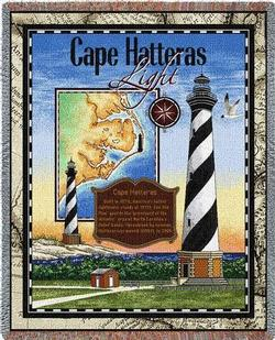 Cape Hatteras  Lighthouse Tapestry Throw