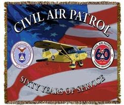 Civil Air Patrol Tapestry Throw Blanket