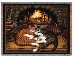 All Burned Out Tapestry Throw