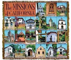 California Missions Tapesatry Throw