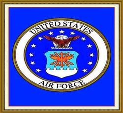 United States Air Force Emblem Tapestry Throw