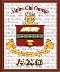 Alpha Chi Omega Fraternity & Sorority Tapestry Throw