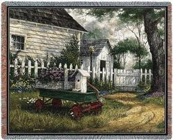 Antique Wagon Tapestry Throw