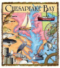 Chesapeake Bay Tapestry Throw