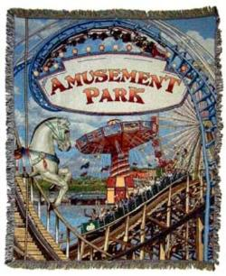 Amusement Park Tapestry Throw