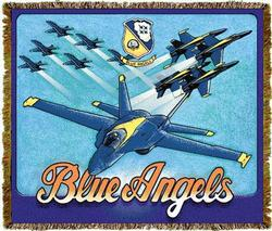 Blue Angels Tapestry Throw