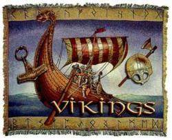 Vikings Tapestry Throw