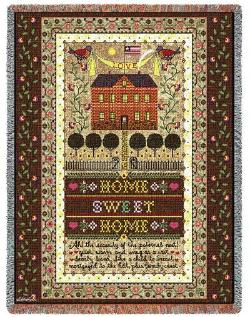 Home Sweet Home Tapestry Throw