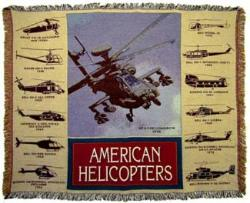 Helicopter History Tapestry Throw