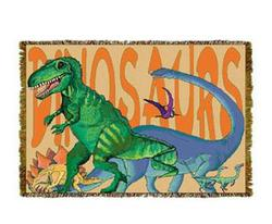 Dinosaurs Tapestry Throw