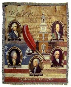Founding Fathers Tapestry Throw Blanket
