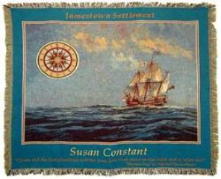 Susan Constant Ship Tapestry Throw
