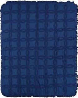 Navy Vintage Tufted CottonThrow