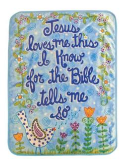 Jesus Love Me Blue Soft Fleece Blankets
