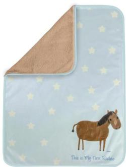 My First Rodeo Blue Soft Fleece Blankets