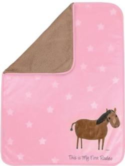 My First Rodeo Pink Soft Fleece Blankets