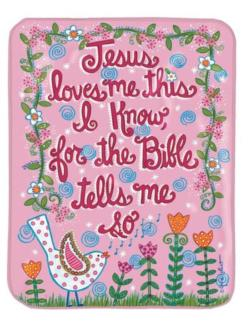 Jesus Love Me Pink Soft Fleece Blankets