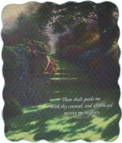 Pathway To Paradise, Psalm 73:24 Quilt Blanket