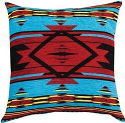 Flame Bright Chenille Tapestry Throw Pillow