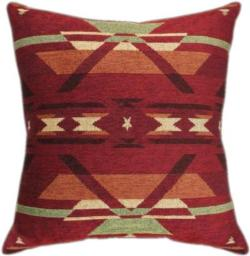 Flame Chenille Tapestry Throw Pillow