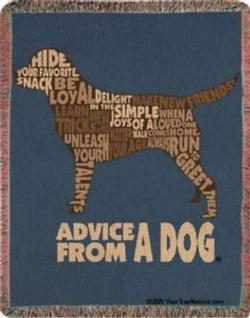 Advice from a Dog Tapestry Throw