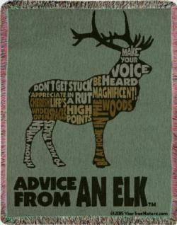Advice from an Elk Tapestry Throw