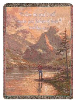 Almost Heaven, Matthew 4:19 Tapestry Throw