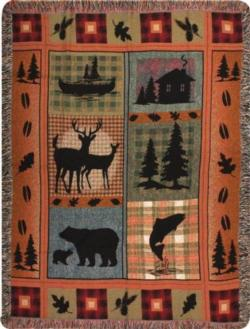 Bear Lodge Tapestry Throw