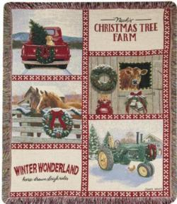 NEW Christmas In The Heartland Tapestry Throw