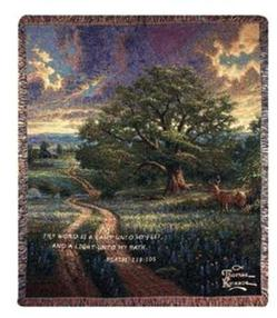 Country Living With Verse Tapestry Throw