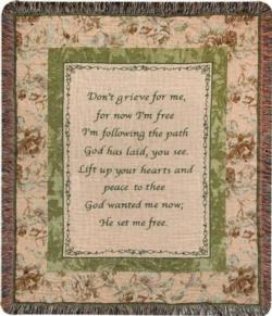 Don't Grieve Tapestry Throw