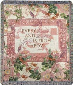 NEW Every Good And Perfect Gift, James 1:17, NIV Tapestry Throw