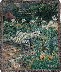Eternal Springtime Proverbs 3:6 Tapestry Throw