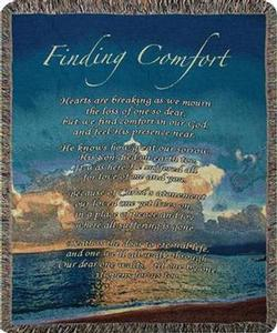 Finding Comfort Tapestry Throw