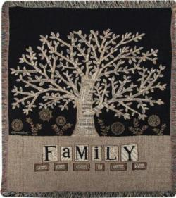 NEW Family Tapestry Throw