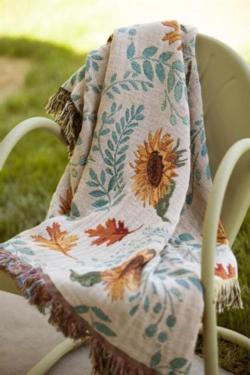 Harvest Gathering Tapestry Throw