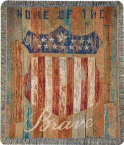 NEW Home Of The Brave Tapestry Throw