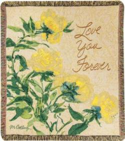 Love You Forever Floral Tapestry Throw