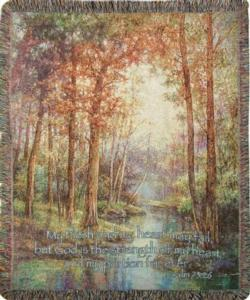 Nature's Tranquility, Psalm 73:26 Tapestry Throw