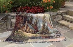 A Peaceful Retreat Tapestry Throw