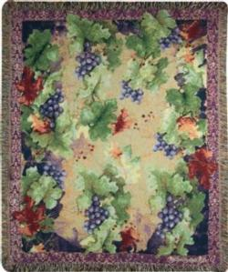 Sanctuary Wine Tapestry Throw