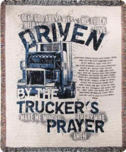NEW Trucker's Prayer Tapestry Throw