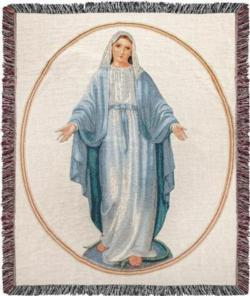 NEW Virgin Mary Tapestry Throw