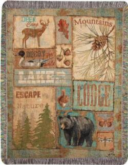 Vintage Outdoors Tapestry Throw