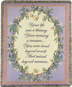 NEW Your Life was a Blessing Tapestry Throw