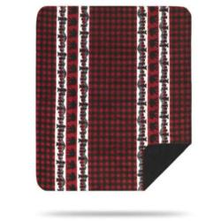Denali Bear Plaid Border Microplush ® Blanket