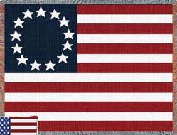 Betsy Star Flag Throw Blanket