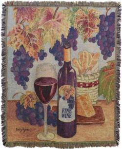Fine Wine Tapestry Throw