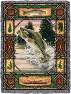 Fish Lodge Tapestry Throw