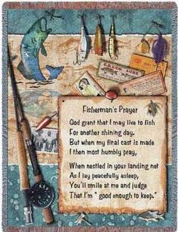 Fisherman's Prayer Tapestry Throw